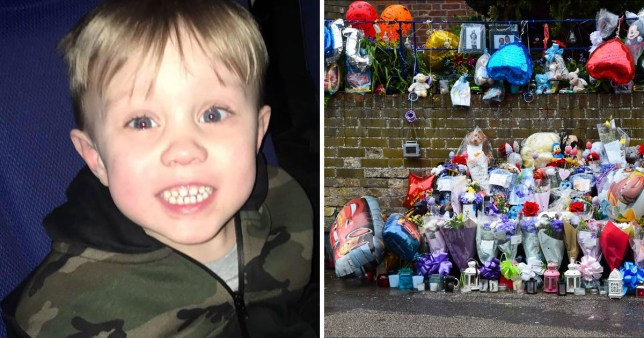 Jaiden Mangan, 3, was killed after being hit by a lorry (Picture: BNPS)