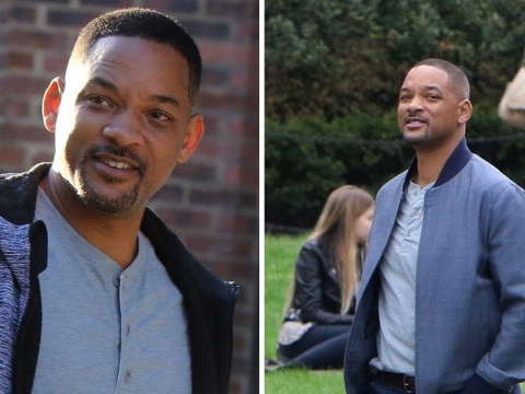 Will Smith all smiles on Gemini Man set after opening up about 'really insane' film where he fights himself