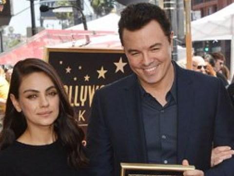 Seth MacFarlane has Family Guy reunion with Mila Kunis when scoring Hollywood Walk of Fame star