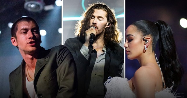 Alex Turner, Hozier and Jorja Smith
