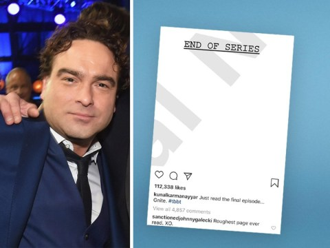 Johnny Galecki calls final page of The Big Bang Theory script 'roughest page ever'