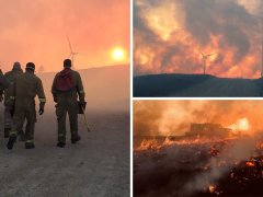 UK's 'largest wildfire in years' continues to rage in Scottish Highlands