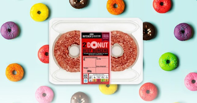 Asda's donut burgers have holes in the middle