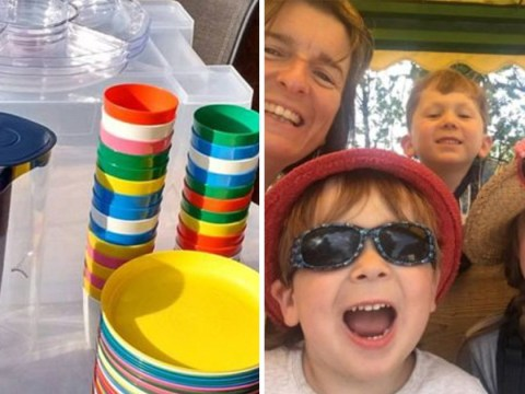 Mum rents out tableware for kids' birthday parties so other parents don't buy disposable plastic