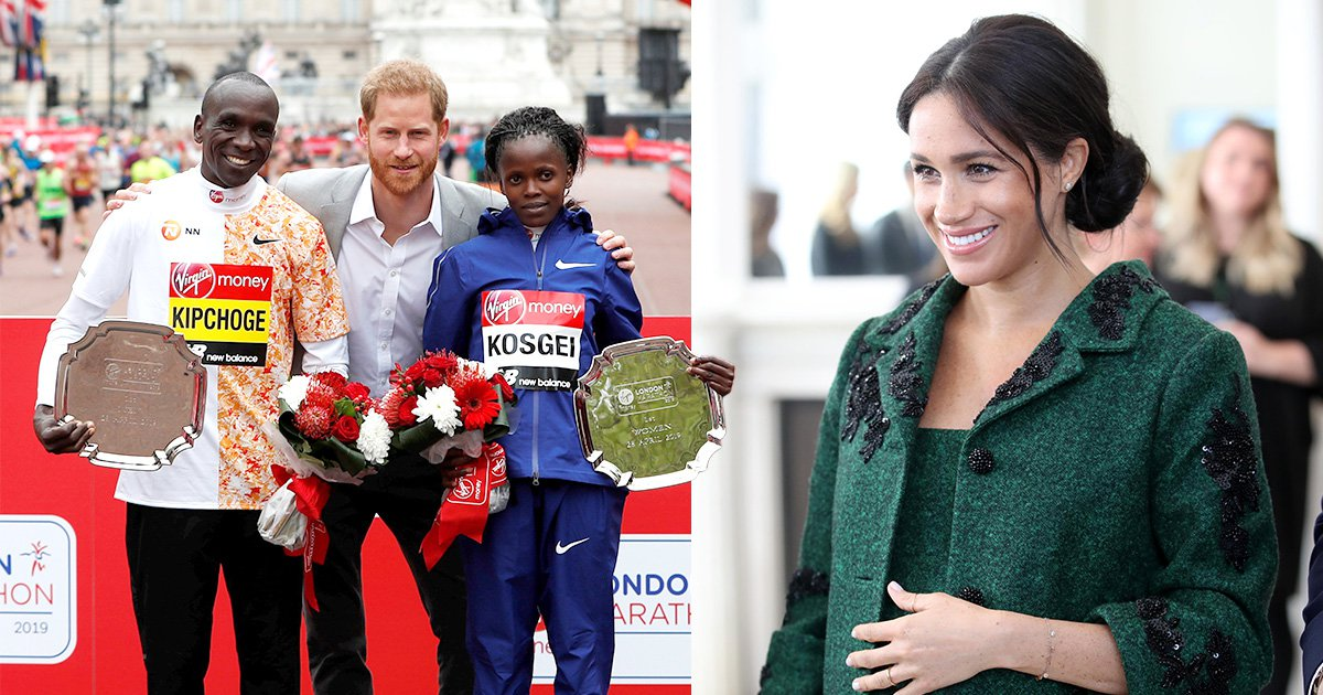 Meghan due to give birth 'today' as Prince Harry attends London Marathon