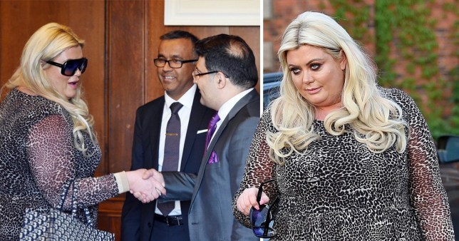 gemma collins pictured consultation with plastic surgeons at Mottram Hall Cheshire