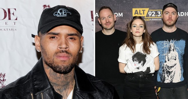 Chris Brown has lashed out at Scottish band Cvrches