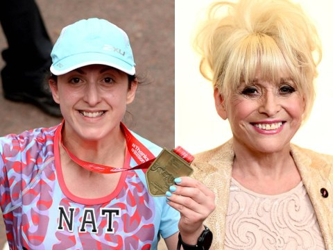EastEnders' Natalie Cassidy looks thrilled finishing London Marathon after smashing fundraising target for Barbara Windsor