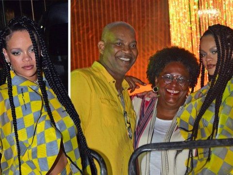 Rihanna is a mood as she parties with Barbados prime minister at Buju Banton's concert