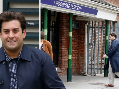 James Argent is all smiles leaving mum's house after moving in amid Gemma Collins split