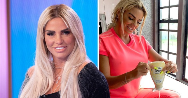 Katie Price promoting calorie-free syrup