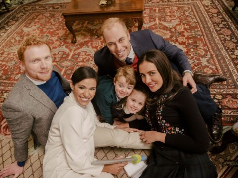 'Meghan Markle' cuddles up to 'Kate Middleton, Princess Charlotte and Prince George' in new TV movie
