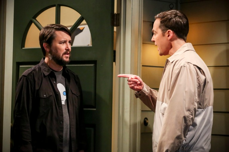 Wil Wheaton and Sheldon Cooper in The Big Bang Theory