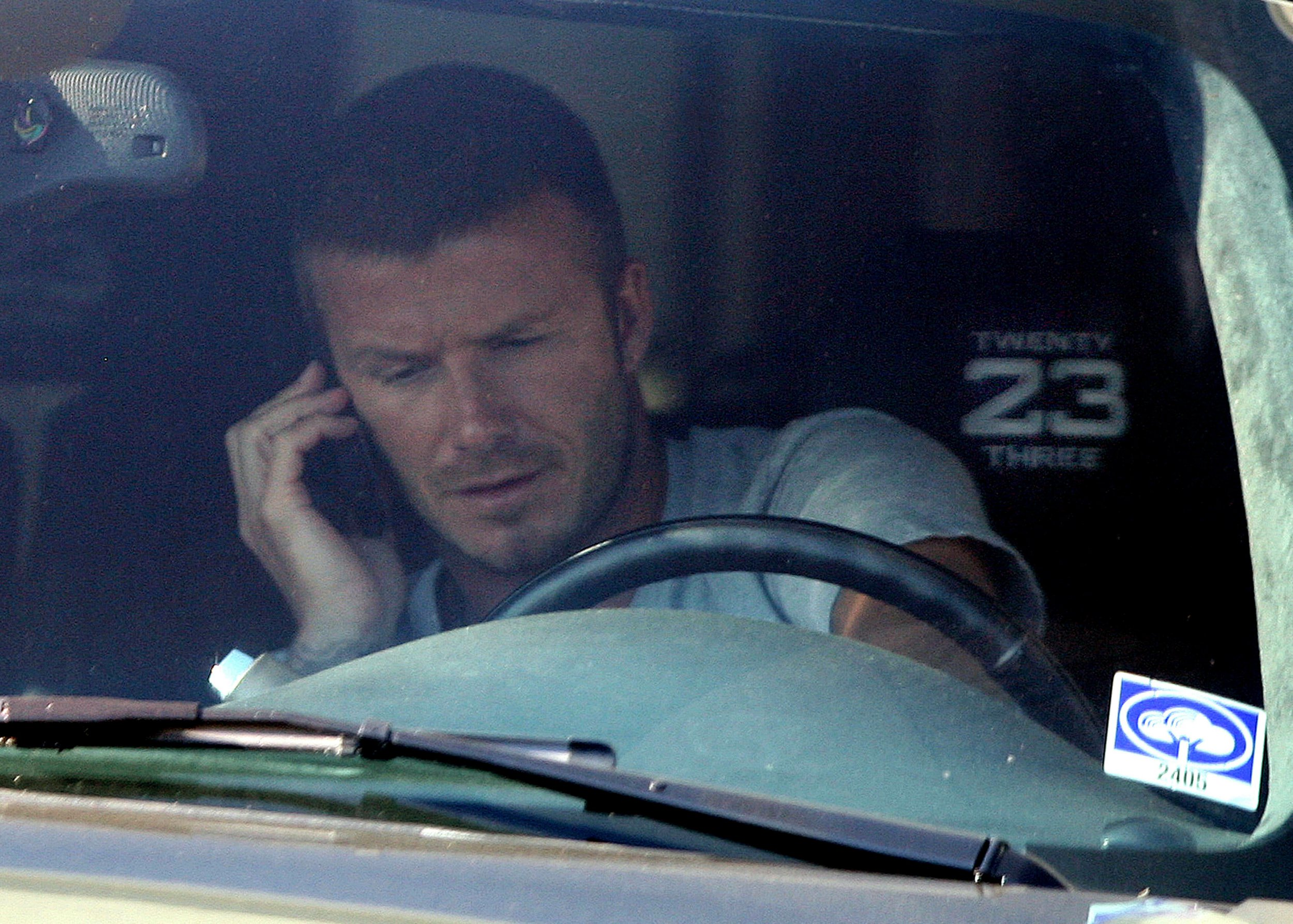 Stock photos of David Beckham and his Cadillac. US reports claimed that the soccer star was involved in a collision in a black Cadillac, it it unknown if this is the same vehicle. Pictured: David Beckham and his Cadillac Escalade Ref: SPL275371 070511 Picture by: Splash News Splash News and Pictures Los Angeles: 310-821-2666 New York: 212-619-2666 London: 870-934-2666 photodesk@splashnews.com