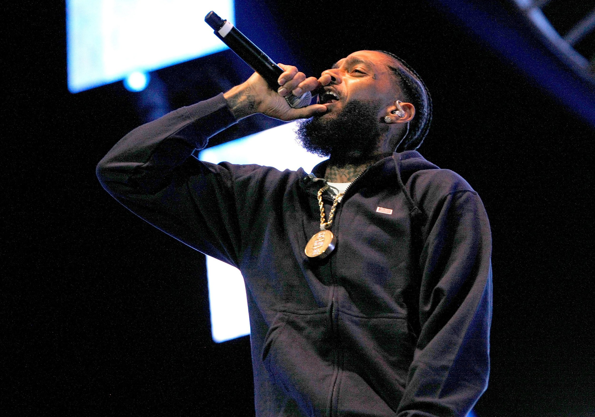 Mandatory Credit: Photo by Imagespace/REX (9725827v) Nipsey Hussle, Ermias Asghedom BET Experience Live!, Los Angeles, USA - 23 Jun 2018