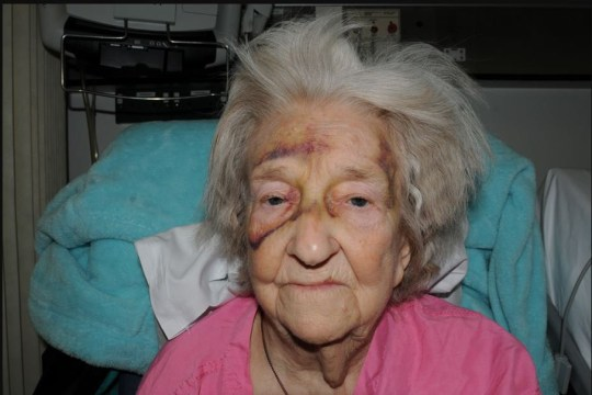 Eileen Blane was brutally attacked in her own home by a heartless stranger. He even snatched her wedding ring from her finger. The 72-year-old was left with horrific injuries and died at her Stretford home just one day after she was discharged from hospital. caption: Eileen Blane died eight weeks after the attack at her home in Stretford