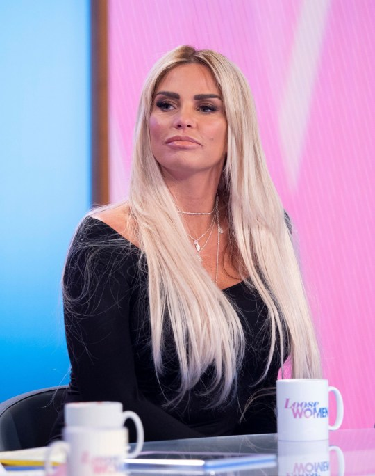Editorial use only Mandatory Credit: Photo by Ken McKay/ITV/REX (10183796y) Katie Price 'Loose Women' TV show, London, UK - 01 Apr 2019 GUESTS: KATIE PRICE AND MUM AMY It's been 18 months since Amy Price first joined us to talk about being diagnosed with incurable lung condition. Amy will be joining us today along with Katie to talk about how she is doing and how the family is coping.