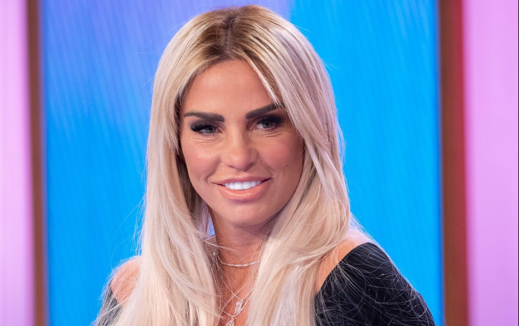Editorial use only Mandatory Credit: Photo by Ken McKay/ITV/REX (10183796ap) Katie Price 'Loose Women' TV show, London, UK - 01 Apr 2019 GUESTS: KATIE PRICE AND MUM AMY It's been 18 months since Amy Price first joined us to talk about being diagnosed with incurable lung condition. Amy will be joining us today along with Katie to talk about how she is doing and how the family is coping.