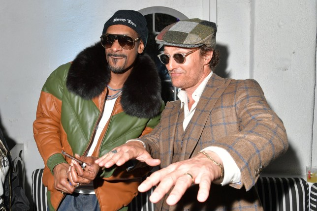 """HOLLYWOOD, CALIFORNIA - MARCH 28: Snoop Dogg and Matthew McConaughey attend the after party of Neon And Vice Studio's """"The Beach Bum"""" at ArcLight Hollywood on March 28, 2019 in Hollywood, California. (Photo by Amy Sussman/Getty Images)"""
