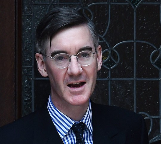 epa07479550 European Research Group (ERG) Chairman Jacob Rees-Mogg departs his home in London, Britain, 02 April 2019. A 'no-deal' Brexit is more likely by the day, EU negotiator Barnier warned after Britain's MPs were unable to find an alternative solution to Prime Minister May's deal. EPA/ANDY RAIN