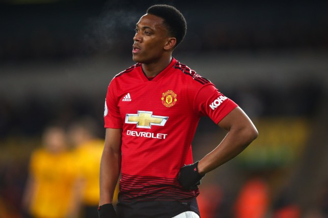 WOLVERHAMPTON, ENGLAND - APRIL 02: A dejected Anthony Martial of Manchester United during the Premier League match between Wolverhampton Wanderers and Manchester United at Molineux on April 2, 2019 in Wolverhampton, United Kingdom. (Photo by Robbie Jay Barratt - AMA/Getty Images)