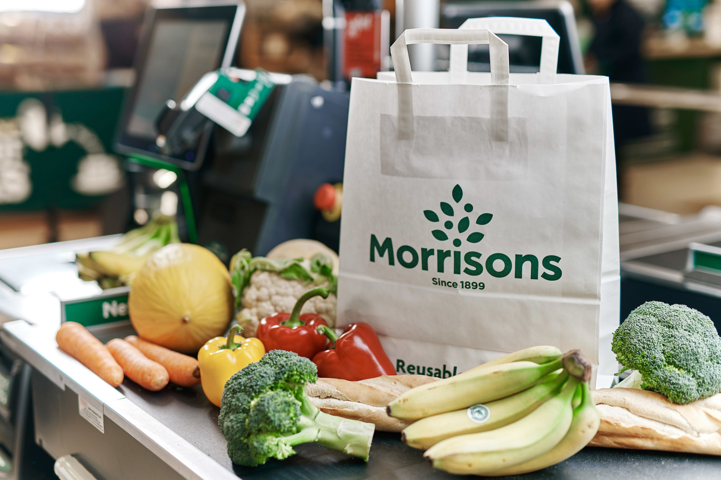 Morrisons is offering customers paper carrier bags instead of plastic in all stores