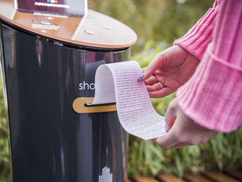 Vending machines print out free short stories for Londoners to read on their commute