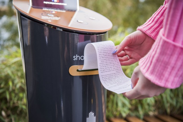 Struggling to finish that novel you've had on the go for six months? Try using Canary Wharf's short story vending machines instead. Machines will print out short stories at the touch of a button onto eco-friendly papyrus paper at no cost, dispensing one, three and five-minute long tales. The idea is the brainchild of French company, Short Edition, which has already installed similar machines in France, Hong Kong and the USA. Stories are printed out on eco-friendly papyrus, and are free of cost. They'll cover a range of genres, including crime, feel-good fiction, and condensed stories from classic authors including Virginia Woolf and Charles Dickens. The Stations, installed across the Canary Wharf estate this week, contain an exclusive story by award-winning British author and screenwriter Anthony Horowitz, that can be read in less than one-minute. The piece, titled Mr Robinson, takes the form of a ???whodunnit??? crime - not only what he is best known for with his Alex Rider novels, but also, according to the research ??? the nation???s favourite genre (19 per cent). Anthony Horowitz commented: ???I???ve always loved the challenge of the short story - creating a whole world in just a few pages. So I was very happy to write Mr Robinson for Canary Wharf???s brilliant new Short Story Stations. Here???s a whodunnit, complete with suspects and clues, that can be started and finished in just a minute. I hope it will entertain tube travellers who will know, at least, that they won???t have the frustration of having to get off before the end!??? Lucie Moore, Head of Arts and Events, Canary Wharf Group says: ???We???re all guilty of saying we???re too busy, but our research found that a staggering 70 per cent of us would rather get lost in a good book than get lost down the rabbit hole of social media. Our Short Story Stations provide the perfect digital antidote - a return to analogue scrolling. We hope Anthony???s brilliant new work helps people to fall back in lov