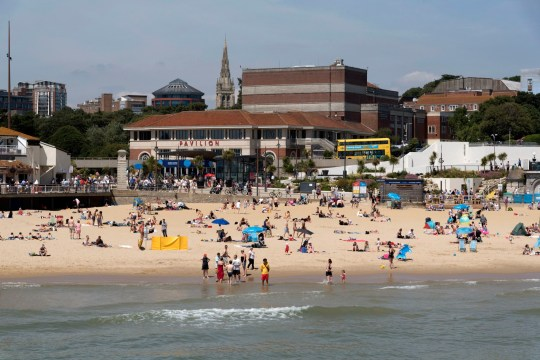 The seafront and Pavilion Theatre in Bournemouth a popular seaside resort in southern England UK,. (Photo by: Education Images/UIG via Getty Images)
