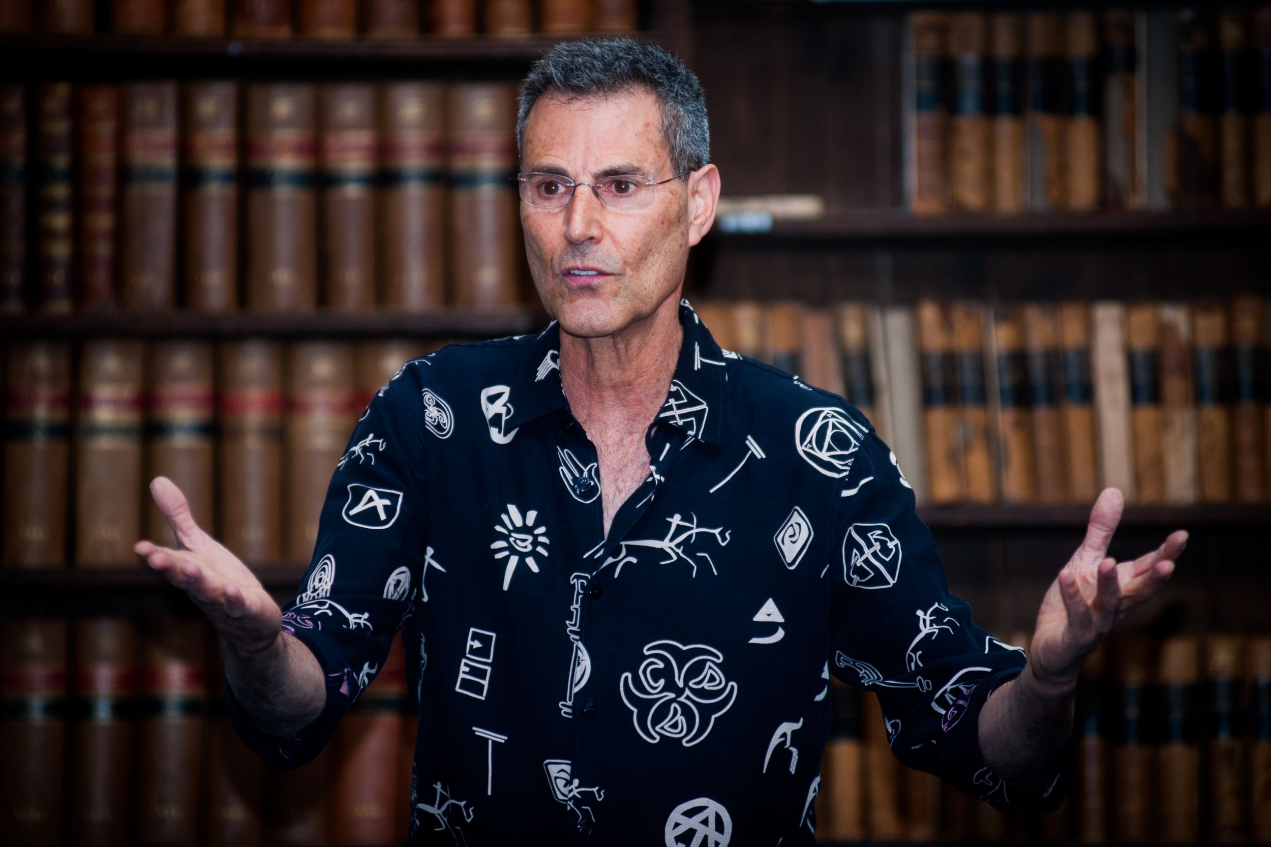 Mandatory Credit: Photo by Roger Askew/REX/Shutterstock (3787757h) Uri Geller Uri Geller speaking at the Oxford Union, Britain - 03 Jun 2014