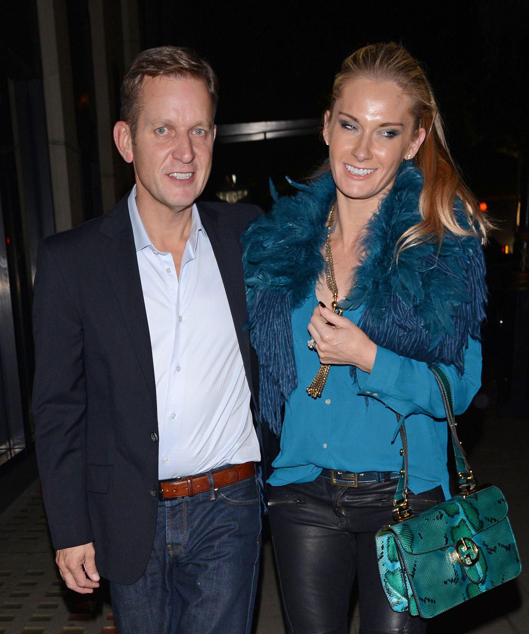 EXCLUSIVE ALL ROUND - Outside subscription deals. For Newspaper (print and web) only. No Magazine use Mandatory Credit: Photo by Photofab/REX/Shutterstock (3161368d) Jeremy Kyle with wife Carla Kyle Jeremy Kyle out and about, London, Britain - 08 Oct 2013
