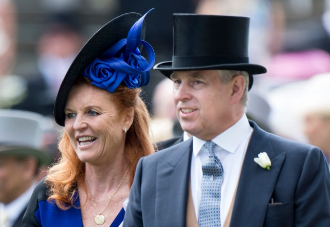 Prince Andrew with Sarah Ferguson at Royal Ascot in 2019
