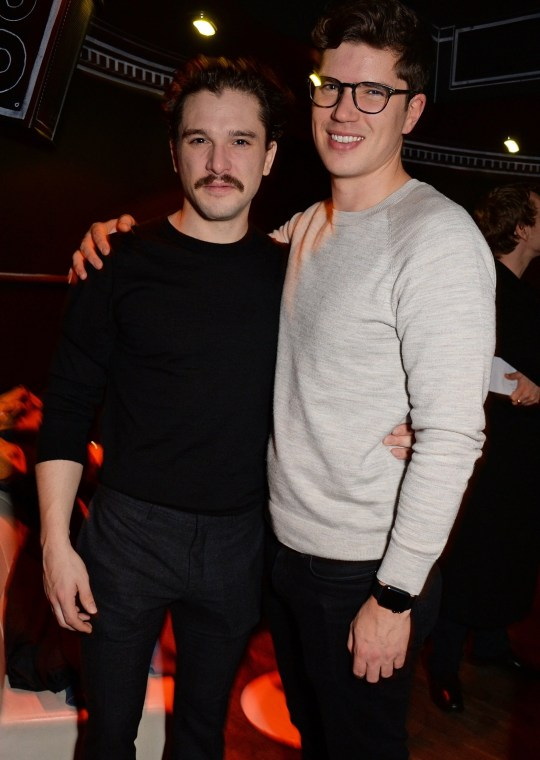 """LONDON, ENGLAND - DECEMBER 04: Kit Harington (L) and John Harington attend the press night after party for """"True West"""" at the Foundation Bar on December 4, 2018 in London, England. (Photo by David M. Benett/Dave Benett/Getty Images)"""