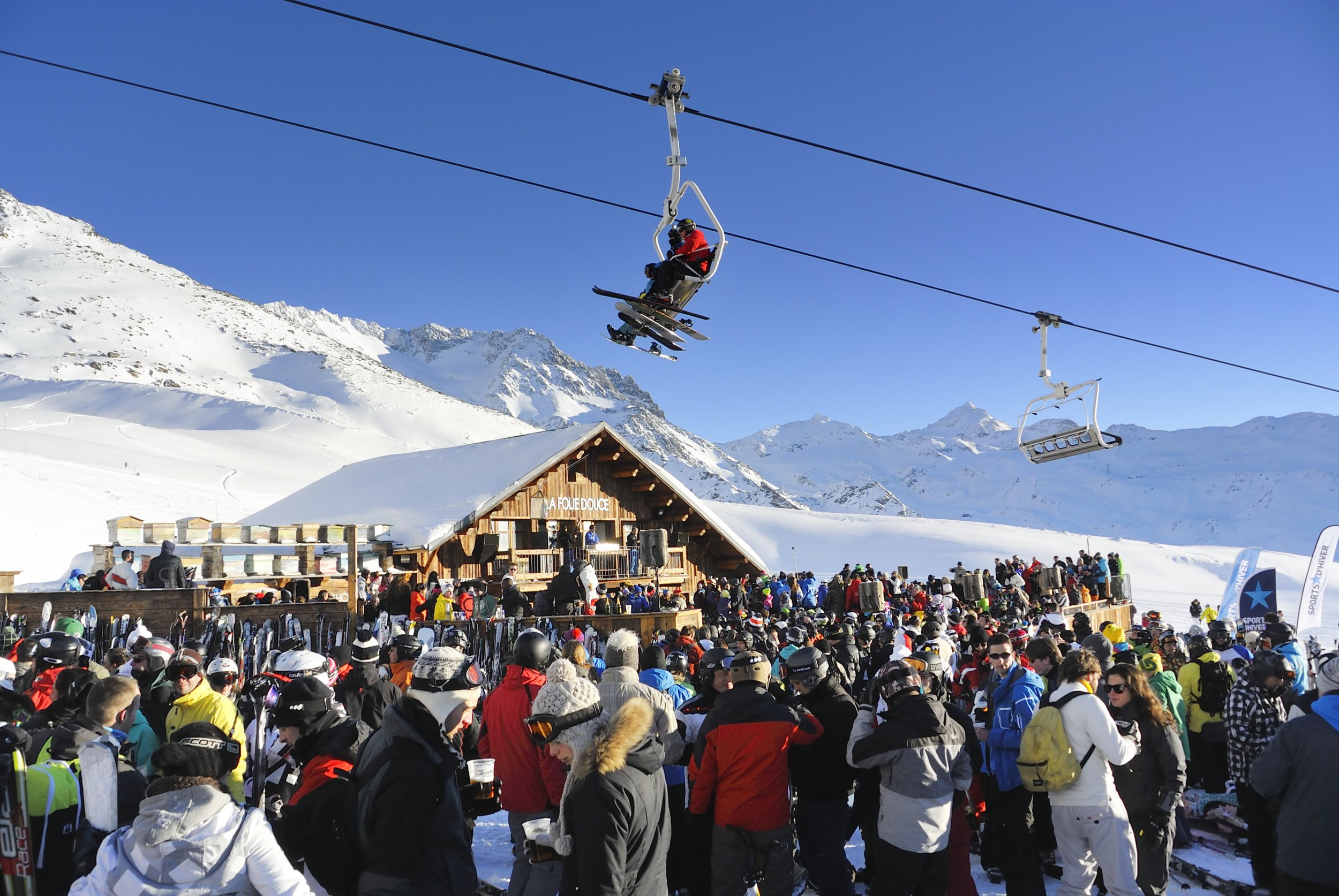 Val Thorens is a well-known party resort for skiiers (Picture: Sjoerd van der Wal/Getty)