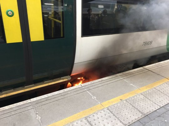 @BenStrivens Follow Follow @BenStrivens More When your driver says there???s a minor fault on the train and you get off to see it on fire. Yeah that. #SouthernRail #LondonBridge is burning down.