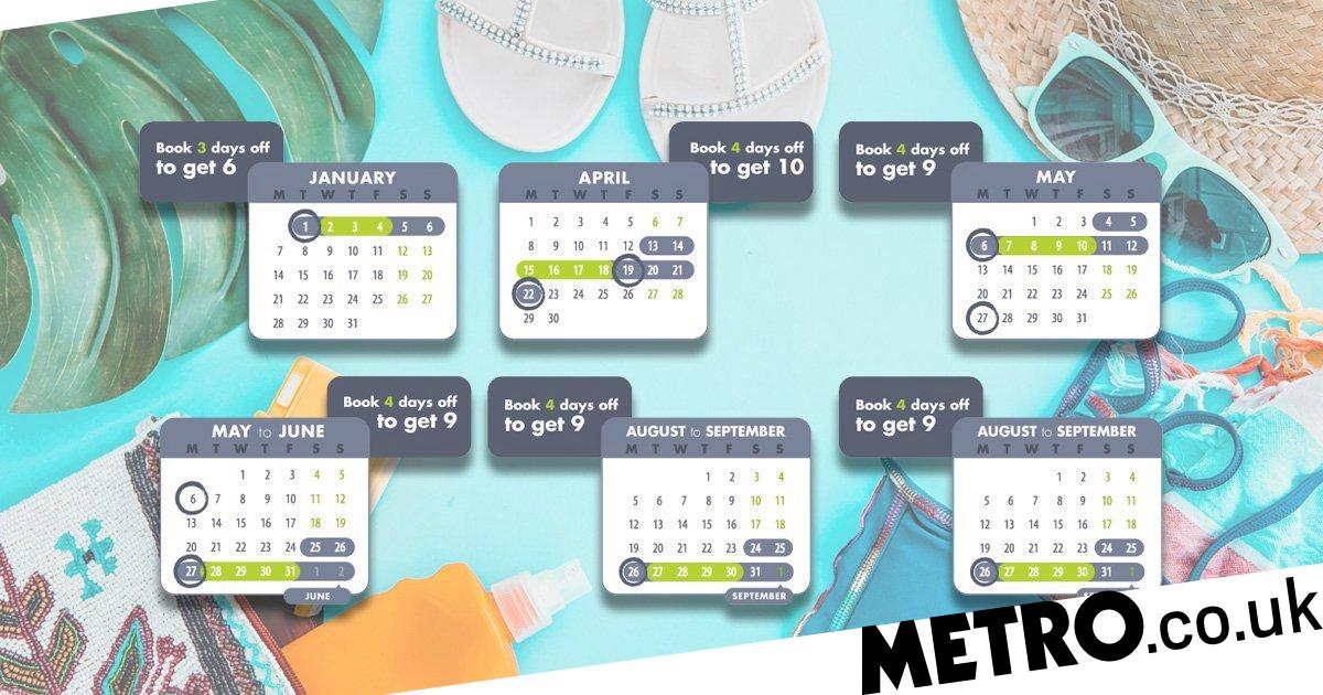 How to take a 10 day holiday with just four days leave