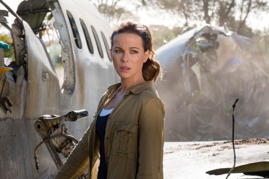 Kate Beckinsale as her character in the widow