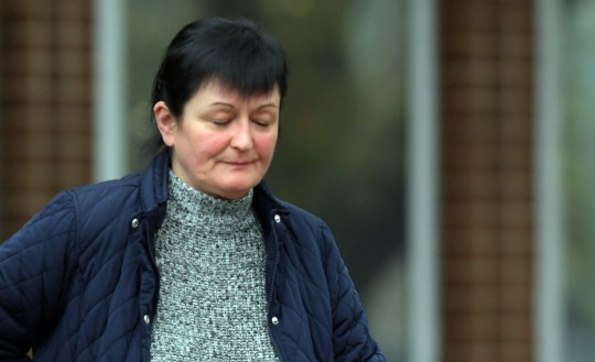 Lesley Thomas outside Merthyr Tydfil Magistrates Court where she is accused of not reporting her ????300,000 lottery win to the government and continued claiming benefits 100% positive ID
