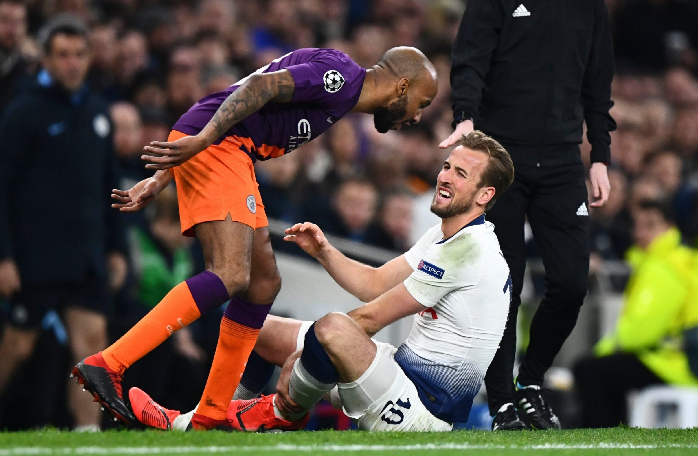 Harry Kane in danger of missing Tottenham run-in after suffering ankle injury during Man City clash
