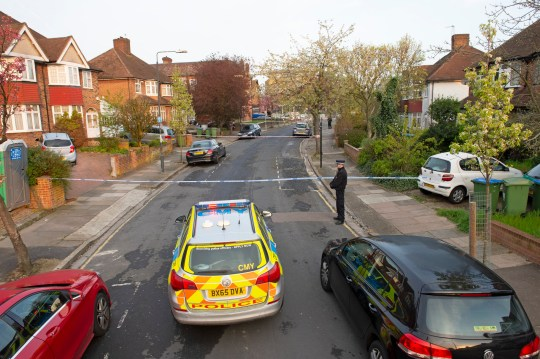 ? Licensed to London News Pictures. 10/04/2019. Mottingham, UK. A police cordon is in place with police on guard this morning. A man in his twenty's was attacked and stabbed yesterday during a moped robbery in Mottingham, South East London. The man is in hospital in a critical condition. Photo credit: Grant Falvey/LNP