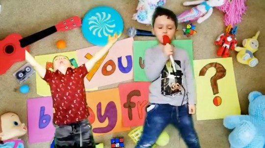 Little boy's adorable friendship song is the best thing you
