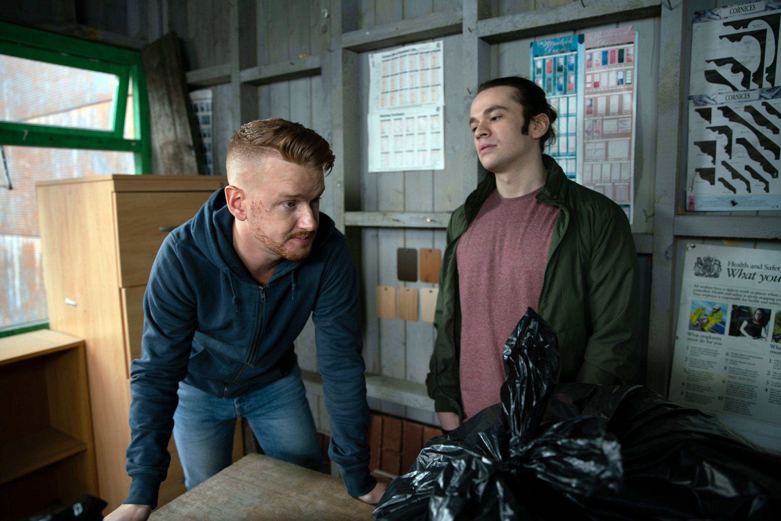 Gary Windass (Mikey North) will be the victim of an attack