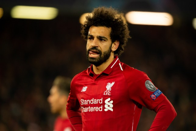 LIVERPOOL, ENGLAND - APRIL 09: Mohamed Salah of Liverpool looks on during the UEFA Champions League Quarter Final first leg match between Liverpool and Porto at Anfield on April 09, 2019 in Liverpool, England. (Photo by TF-Images/Getty Images)