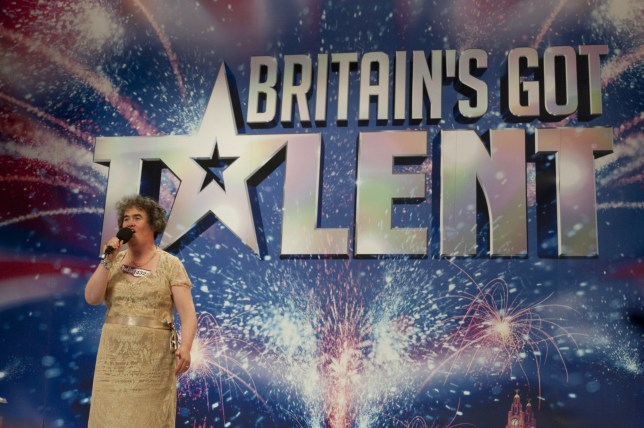 Susan Boyle performing on Britain's Got Talent in 2009