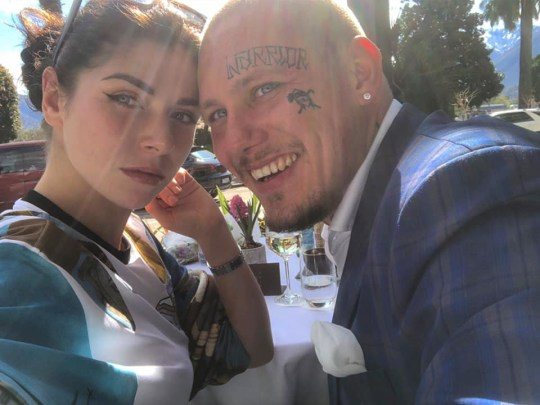 Anna Florence Reed killed in 'sex game gone wrong' by her boyfriend. pictured with her boyfriend Marc Dirtywhite aka Marc Schatzle in Locarno soon before her death
