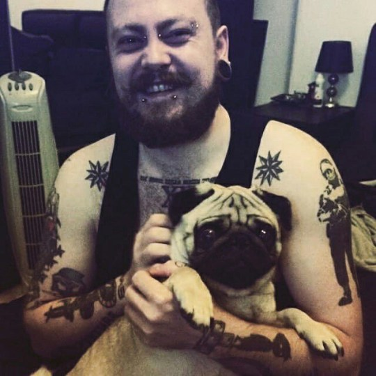 """Markus Meechan with dog Buddha. A SCOT has been slammed by Jewish leaders after he posted a video online in which he teaches a dog to perform a Nazi salute. The clip, recorded by Markus Meechan, has attracted almost one million views on YouTube and has been shared widely on social media after it was released just over a week ago. The video shows Meechan, who goes by the online moniker Count Dankula, teaching a pug-breed dog named Buddha to respond to the phrase """"gas the Jews"""" and to raise its paw in an imitation Nazi salute when it hears the words """"Sieg Heil"""". He also films it watching speeches made by Hitler and calls it """"a good little Nazi"""" in the footage which is titled 'M8 Yer Dugs A Nazi"""". At the start of the 2 mins 23 seconds video Meechan, 28, says: """"My girlfriend is always ranting and raving about how cute her dog is so I thought I would turn her into the least cute thing you could think of which is a Nazi."""" At the end, the former security guard, from Coatbridge, Lanarkshire, insists he is not a racist, but is only trying to play a joke on his girlfriend to """"p*** her off""""."""