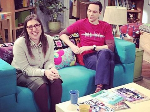 The Big Bang Theory's Mayim Bialik shares favourite behind-the-scenes photo with Jim Parsons and these guys are so cute IRL