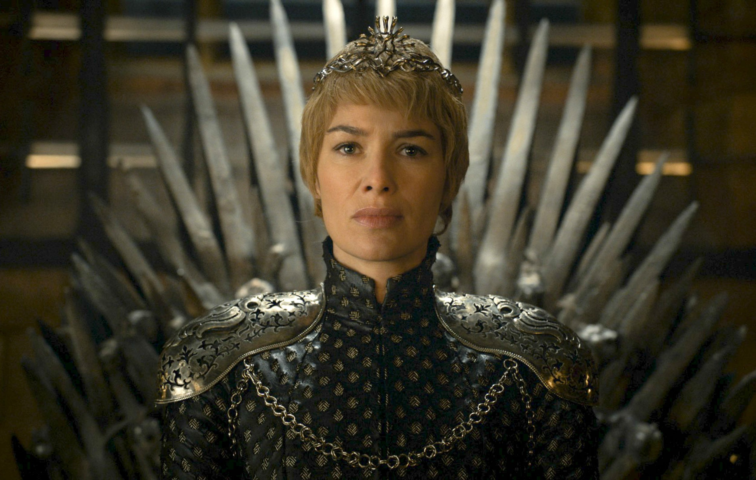 "This image released by HBO shows Lena Headey as Cersei Lannister in a scene from ""Game of Thrones."" The final season premiers on Sunday. (HBO via AP)"