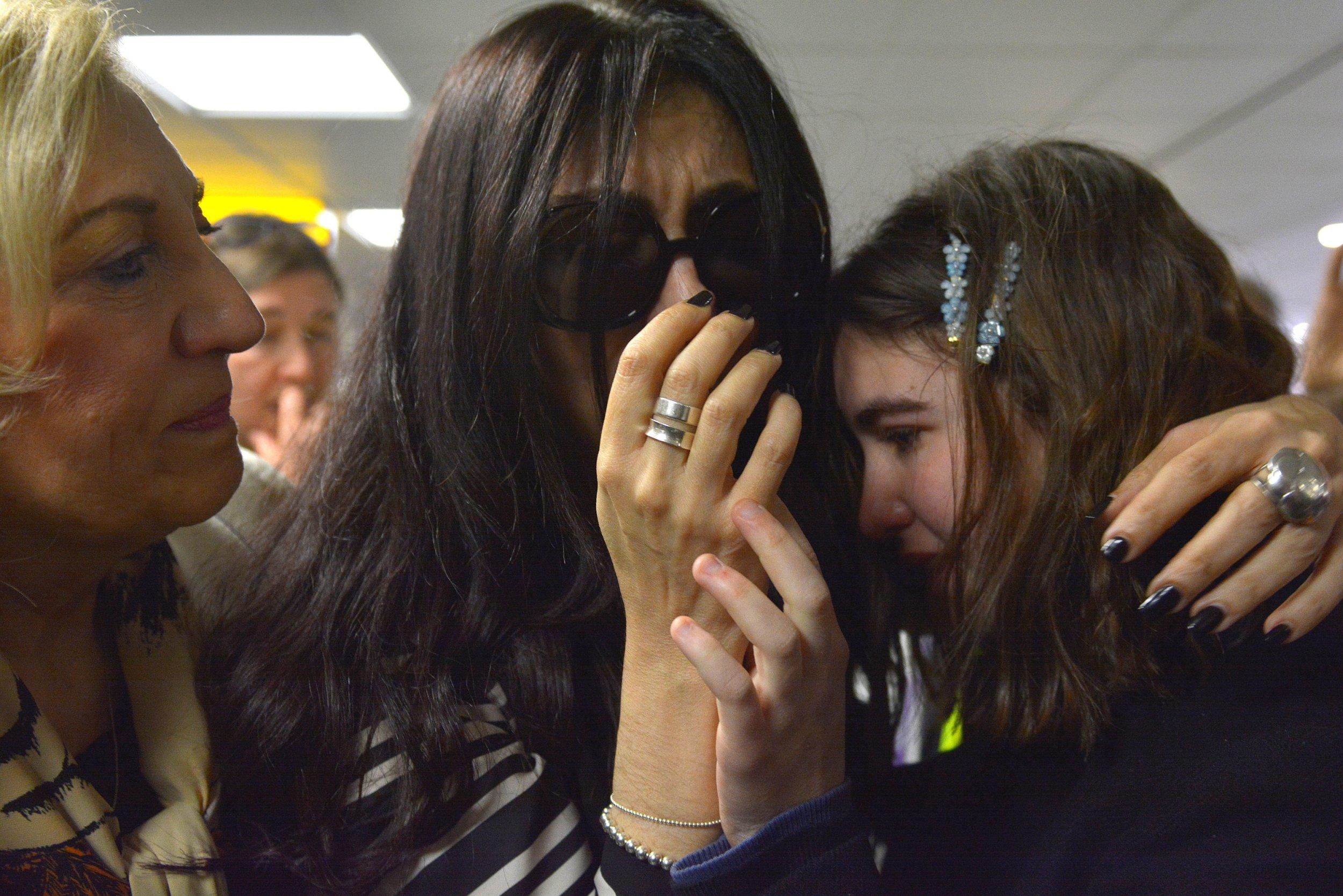 w8media Laleh Shahravesh at Heathrow Airport april 2019