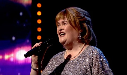 Picture: ITV Simon Cowell rushes over to comfort emotional Susan Boyle after she makes Britain???s Got Talent return